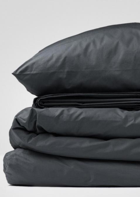 Комплект постельного белья Home me Глубина океана черного цвета с изумрудным оттенком, фото