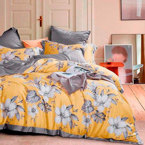 Комплект постельного белья Love You Tensel из эвкалиптового волокна с цветочным принтом, фото
