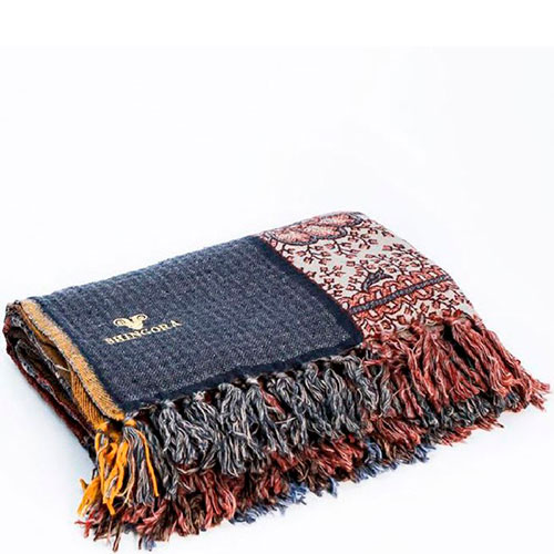 Шерстяной плед Shingora с узорами, фото