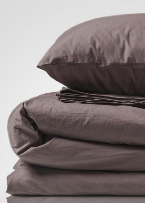 Комплект постельного белья Home me Безмятежность времени серого вета, фото