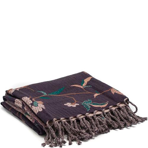 Двусторонний плед Shingora с вышивкой в виде цветов, фото