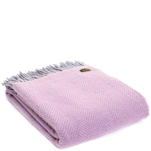 Плед Tweedmill Herringbone фиолетового цвета, фото