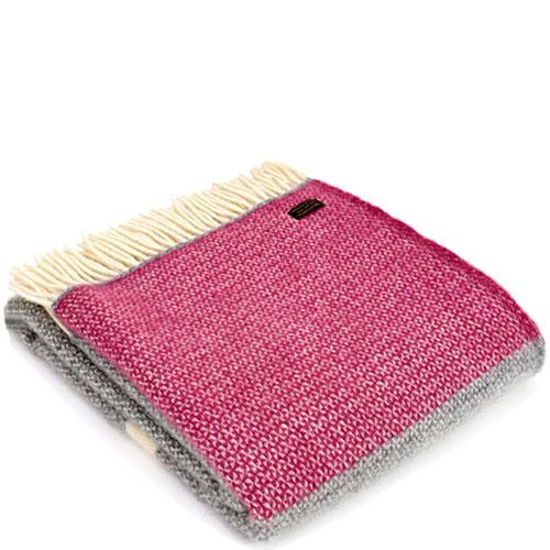 Плед Tweedmill  Illusion Panel серый с розовым, фото