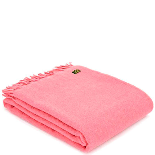 Плед Tweedmill Plain Weave Blossom розового цвета, фото
