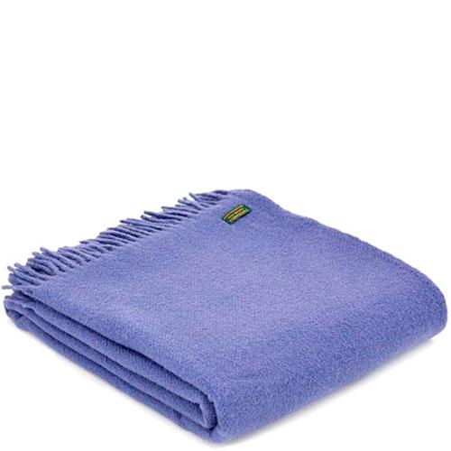 Плед Tweedmill Wafer фиолетового цвета, фото