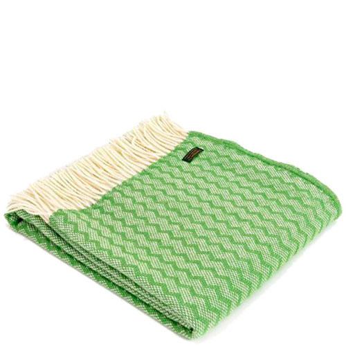 Плед Tweedmill Zigzag зеленого цвета, фото