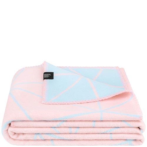 Мягкий двусторонний плед Woolkrafts Cotton Collection Poly пастельных цветов, фото