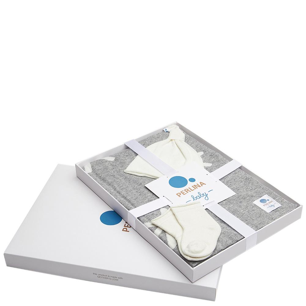 Комплект для новорожденных Perlina Baby Снег серого цвета