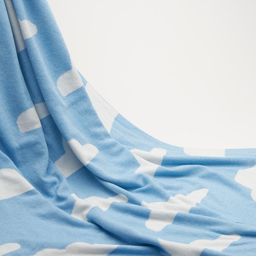 Комплект для новорожденных Perlina Baby Снежная тучка синего цвета