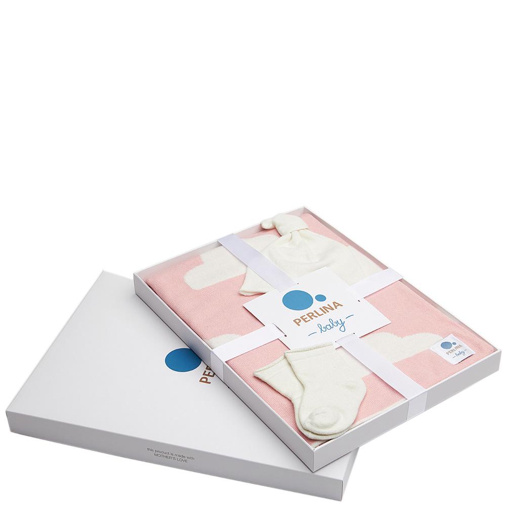 Комплект для новорожденных Perlina Baby Снежная тучка розового цвета