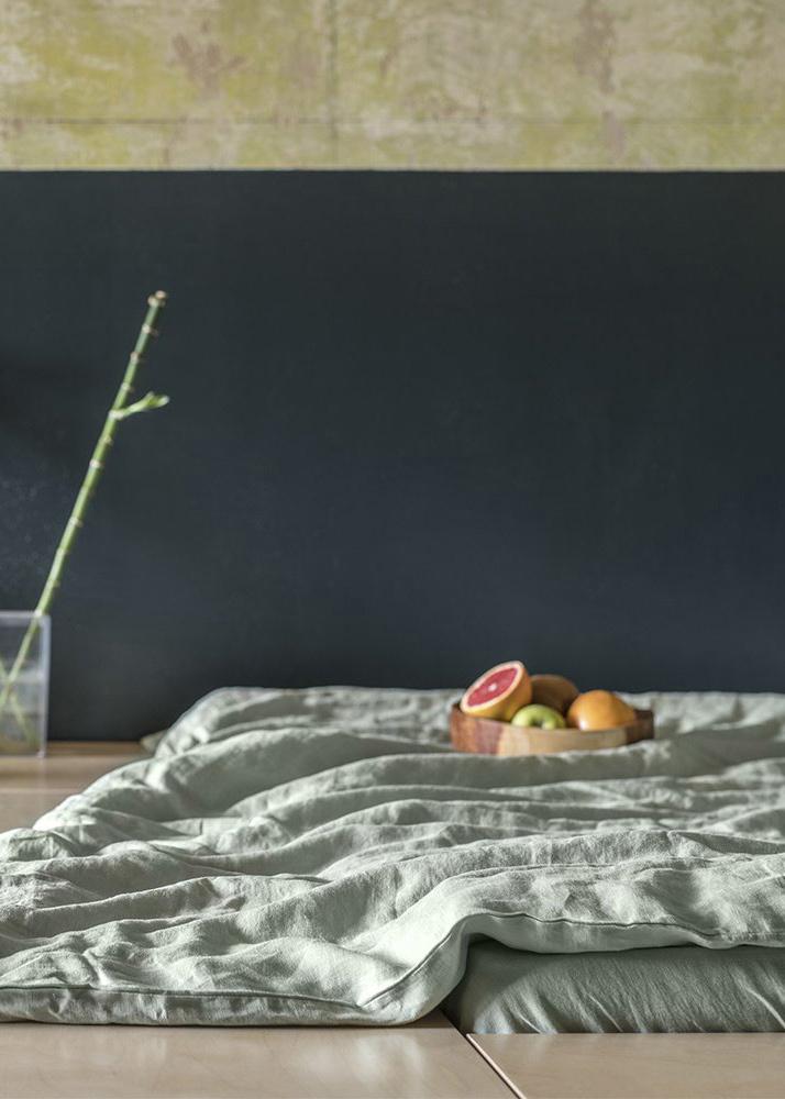 Комплект постельного белья Home me Гармония природы светло-зеленого цвета