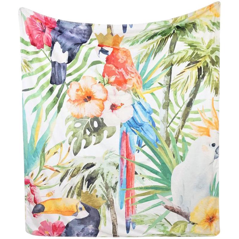 Плед HOFF Interieur Jungle с цветочным и животным принтом