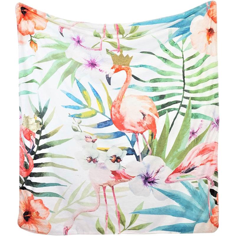 Плед HOFF Interieur Jungle с изображением фламинго