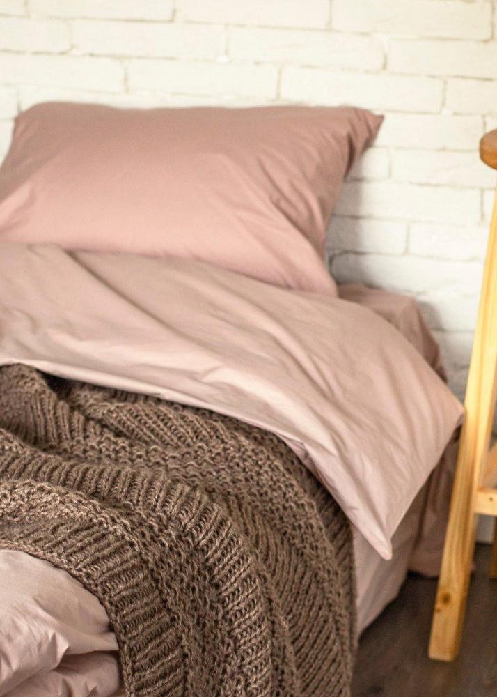 Двуспальный комплект постельного белья Home me Милфей розового цвета