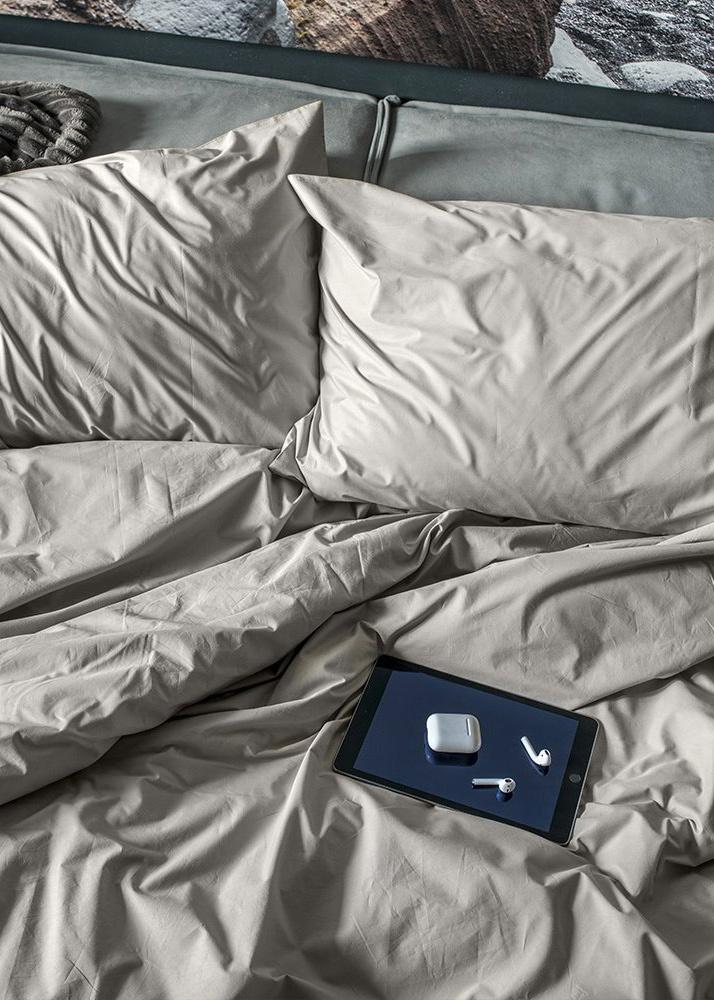 Двуспальный комплект постельного белья Home me Теплый латте однотонный