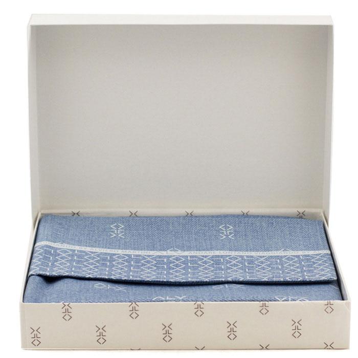 Набор постельного белья Bic Ricami голубого цвета с узором