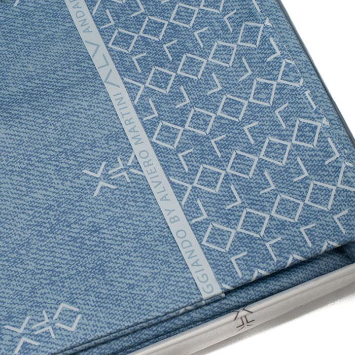 Набор постельного белья Bic Ricami синего цвета с орнаментом