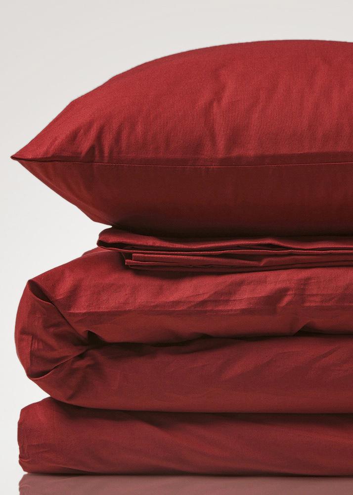 Комплект красного постельного белья Home me Сладкий гранат