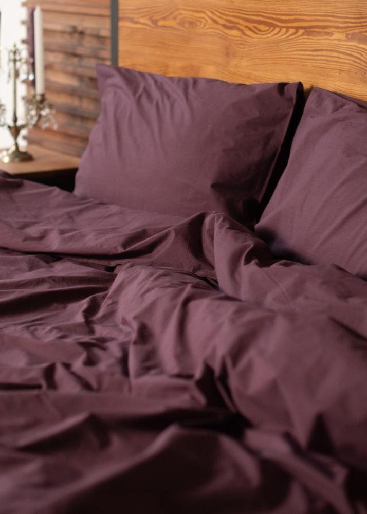 Комплект постельного белья Home me Послевкусие инжира фиолетово-бордового цвета