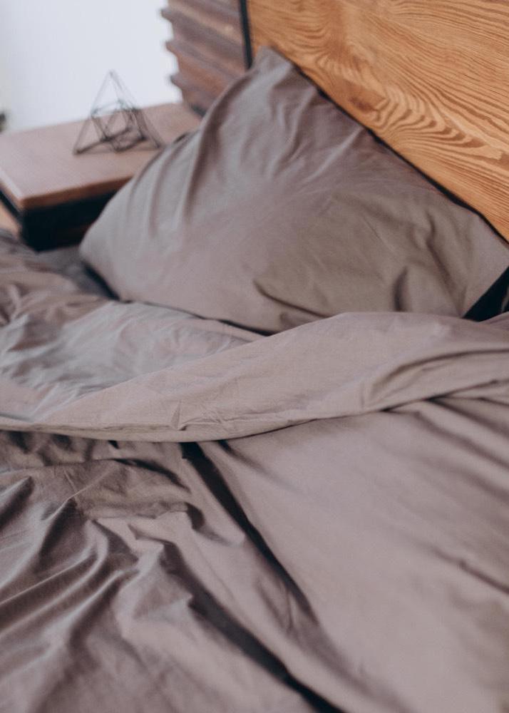 Однотонный комплект постельного белья Home me Безмятежность времени