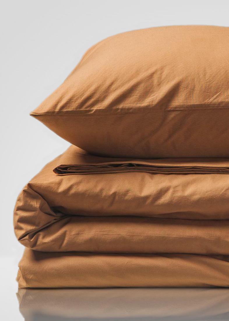 Комплект постельного белья Home me Солнце пустыни оранжевого цвета