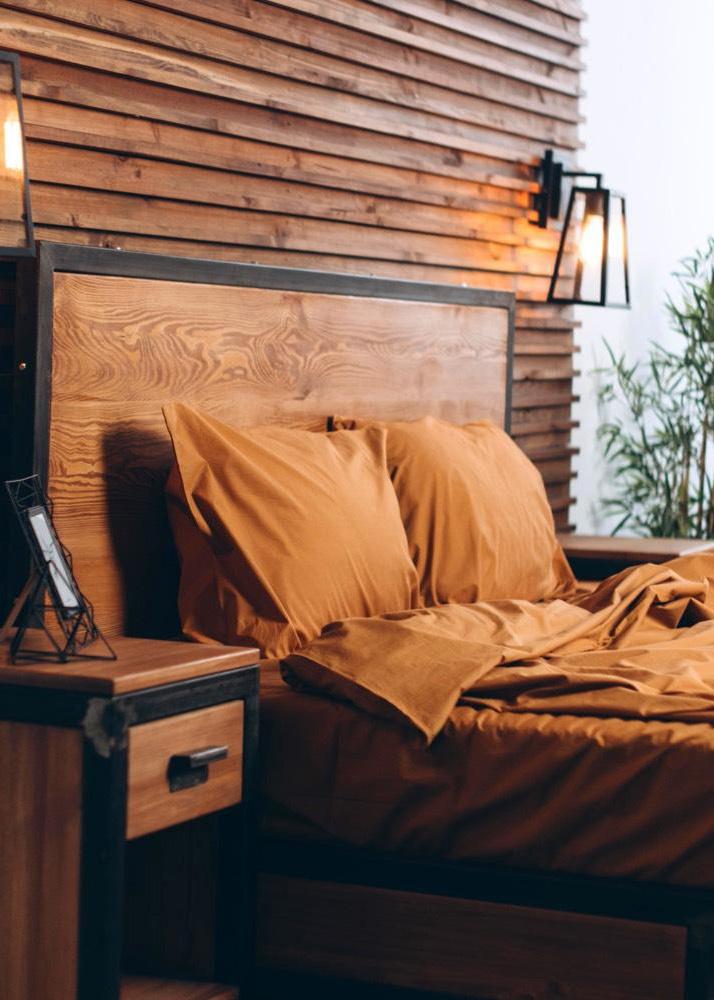 Оранжевый комплект постельного белья Home me Солнце пустыни