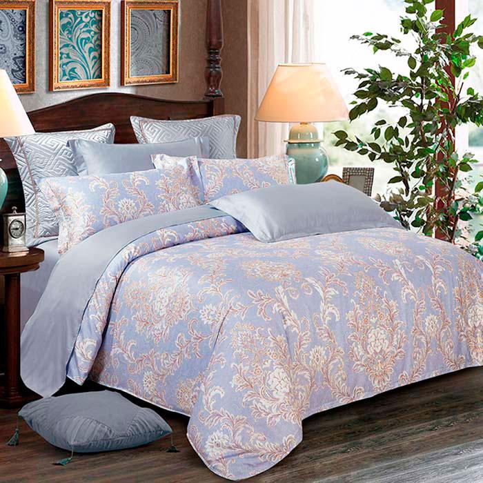 Комплект постельного белья Love You LUX голубого цвета
