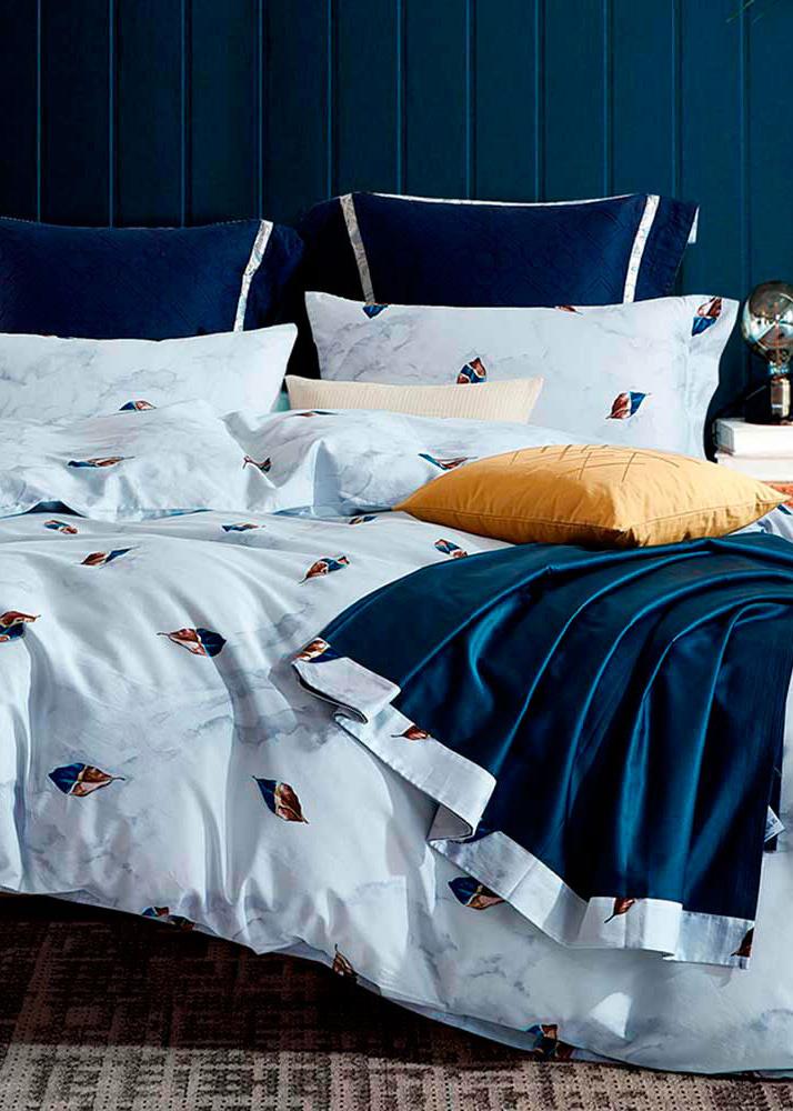 Комплект постельного белья Love You LUX с абстрактным принтом