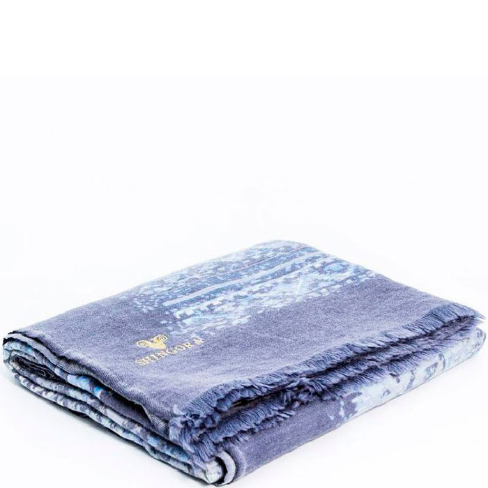 Синий плед Shingora из шерсти