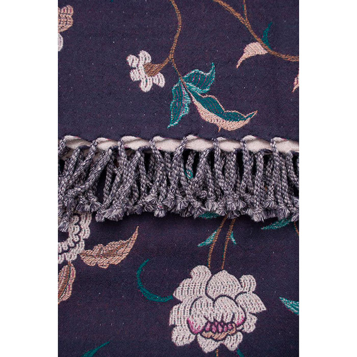 Двусторонний плед Shingora с вышивкой в виде цветов