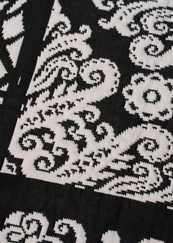 Покрывало черно-белое Villa Grazia Nido Premium с орнаментом