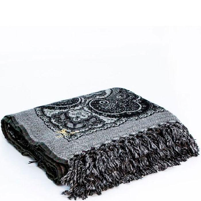 Черный шерстяной плед Shingora с орнаментом