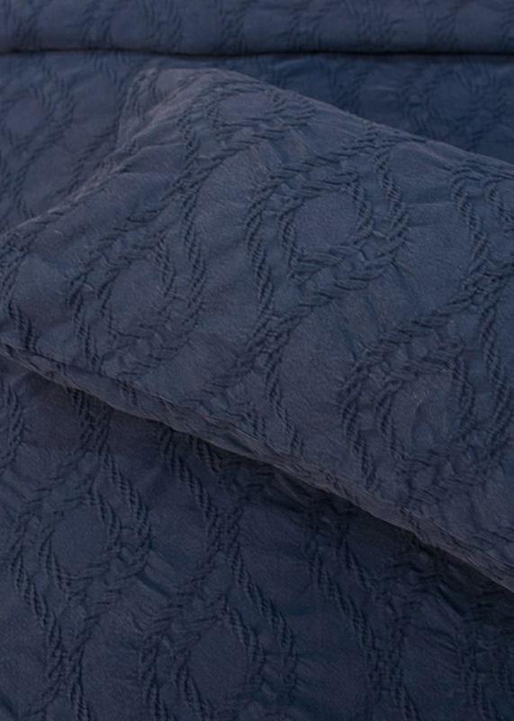 Покрывало  темно-синее Villa Grazia Nos Premium с орнаментом