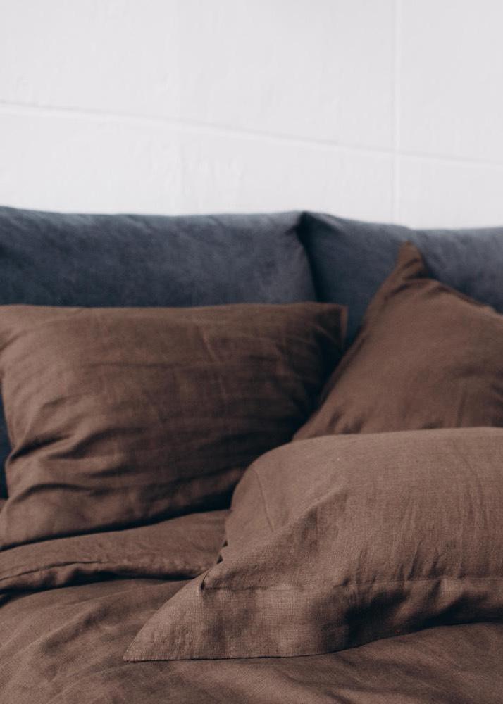Комплект постельного белья Home me Горячий шоколад коричневого цвета