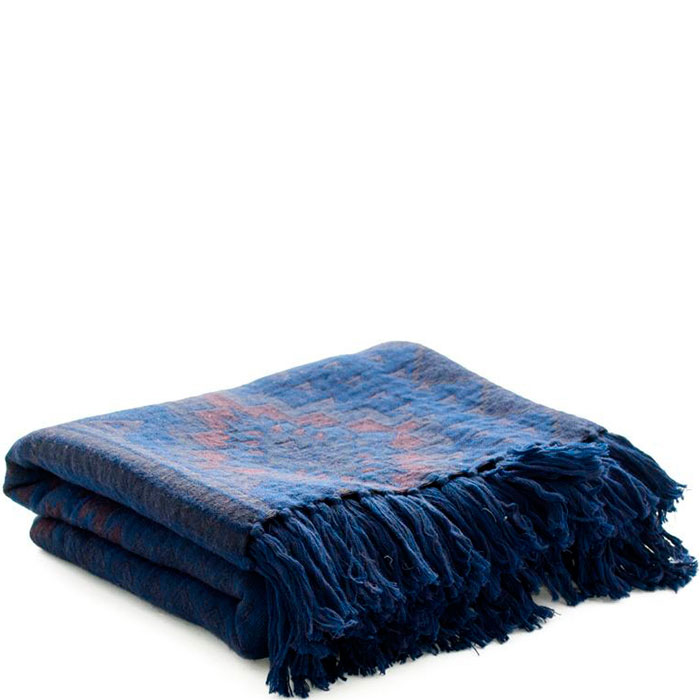 Шерстяной плед Shingora синего цвета