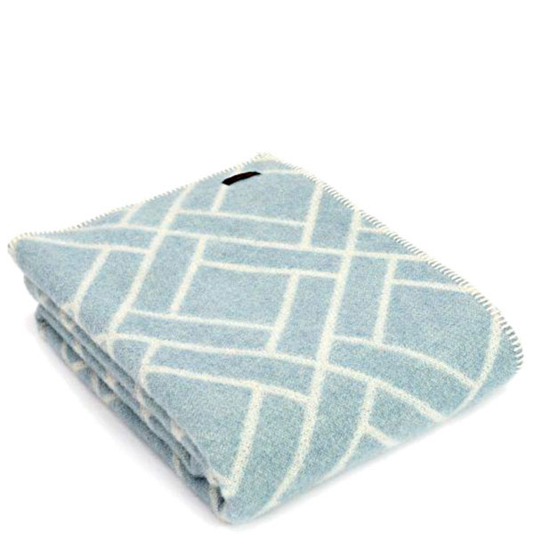 Плед Tweedmill Brick Jacquard серый с голубым