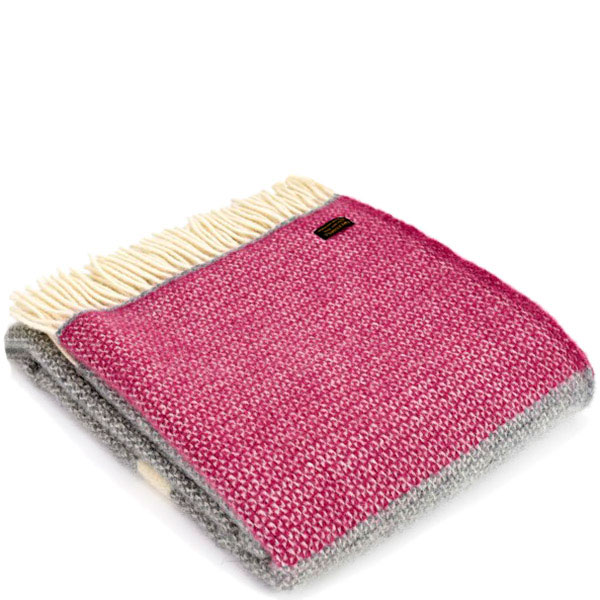 Плед Tweedmill  Illusion Panel серый с розовым