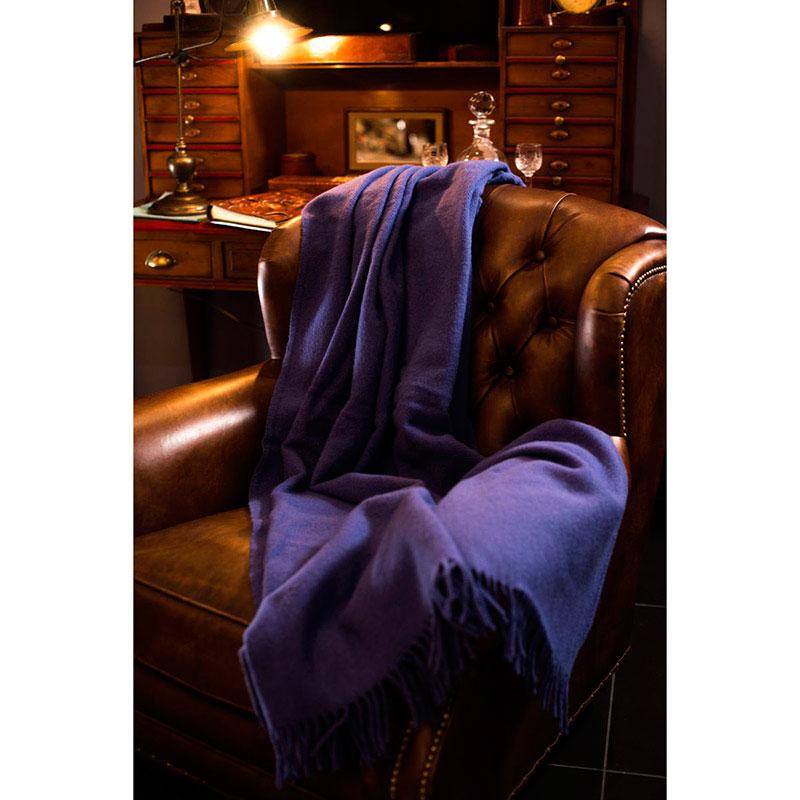 Плед Tweedmill Plain Weave Parma фиолетового цвета