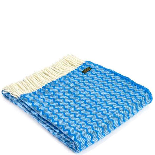 Плед Tweedmill Zigzag синего цвета