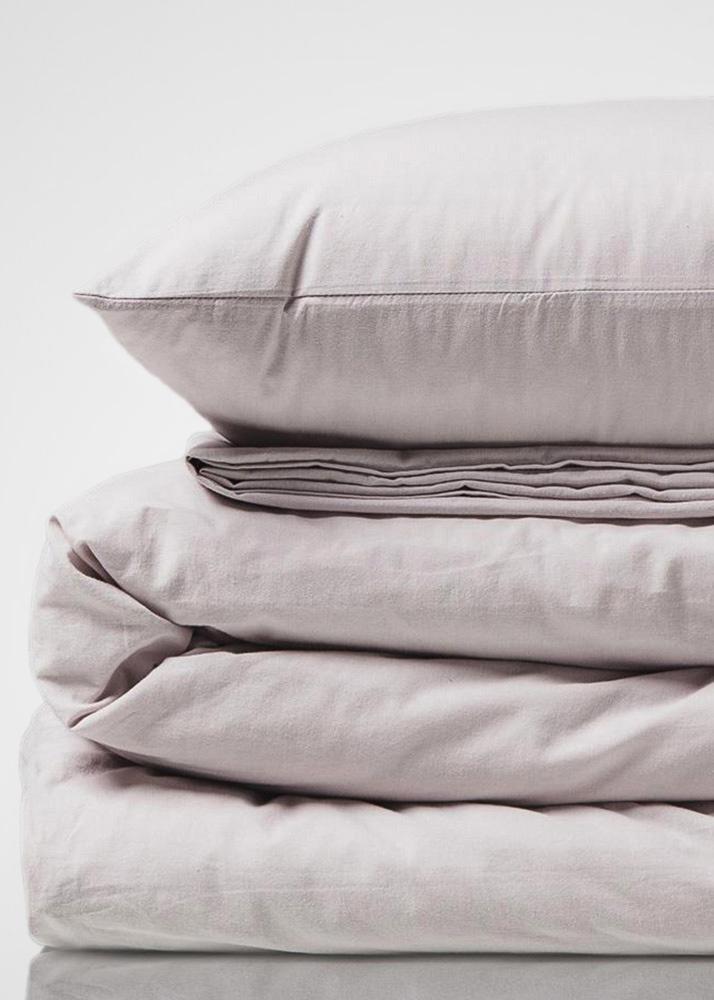 Бледно-сиреневый комплект постельного белья Home me Трепет чувств