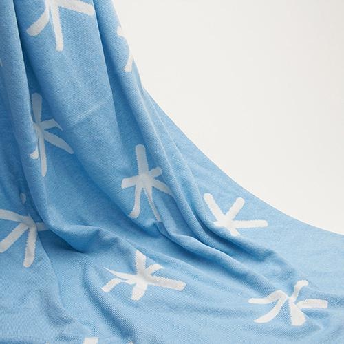 Комплект для новорожденных Perlina Baby Снег синего цвета, фото