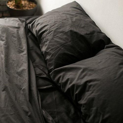 Полуторный комплект постельного белья Etnodim из хлопка черного цвета, фото