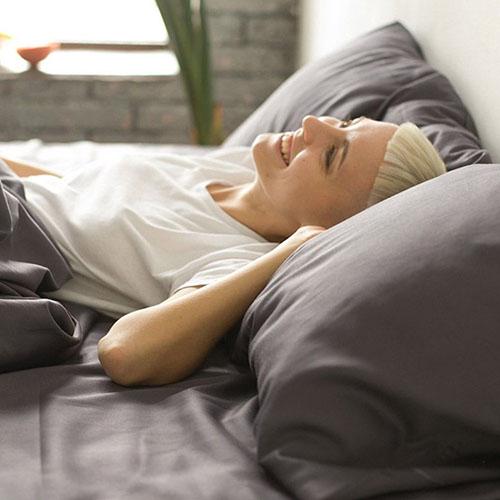 Полуторный комплект постельного белья Etnodim из хлопка серого цвета, фото