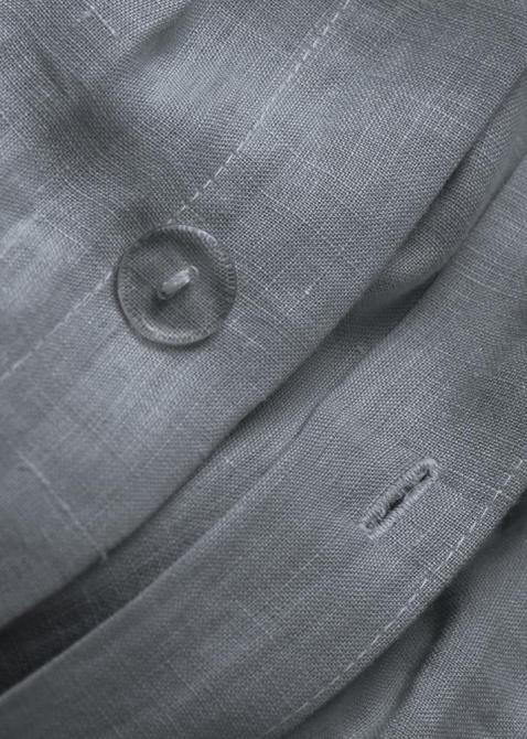Комплект постельного белья Home me Дориан Грей из льна темно-серого цвета, фото