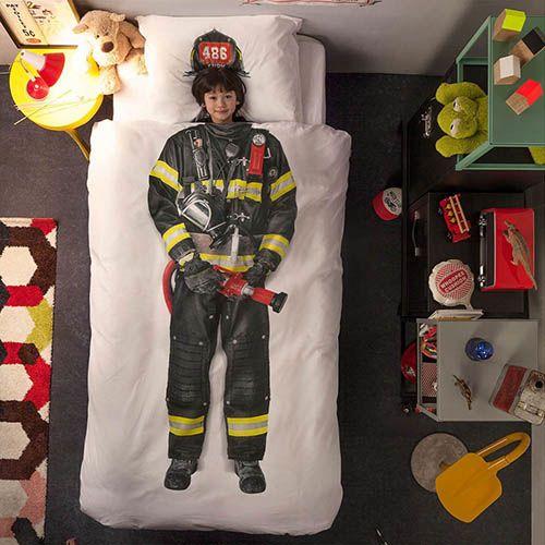 Односпальный комплект постельного белья Snurk Firefighter, фото