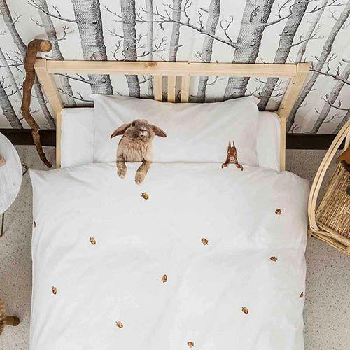 Односпальный комплект постельного белья Snurk Furry Friends, фото