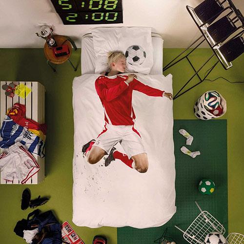 Односпальный комплект постельного белья Snurk Soccer champ red, фото
