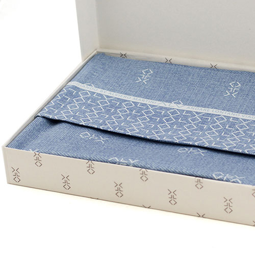 Набор постельного белья Bic Ricami голубого цвета с узором, фото