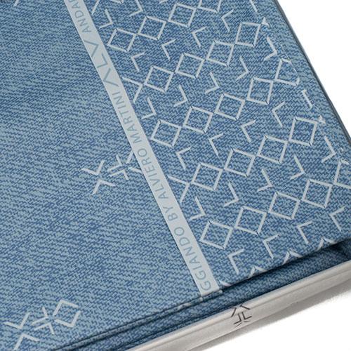 Набор постельного белья Bic Ricami синего цвета с орнаментом, фото