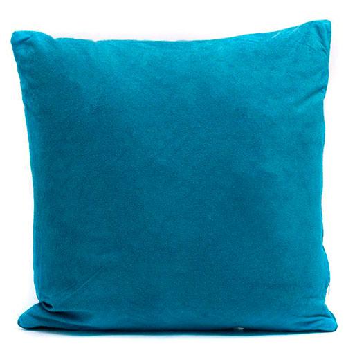 Синяяя подушка стёганая Stof Bleu велюровая, фото